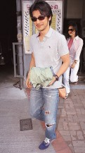 Takeshir Kaneshiro in casual out fit with medium hair
