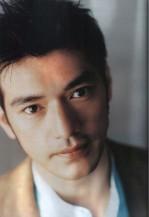 Takeshi Kaneshiro with his very short and spiky hair style