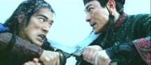 Takeshi Kaneshiro and Andy Lau in moive House of Flying Dragon_fighting