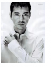 Takeshi Kaneshiro 2010 hairstyle picture with his very short hair and spiky bang.PNG