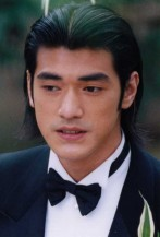 Takeshi Kaneshiro in tuxeto with medium long hair