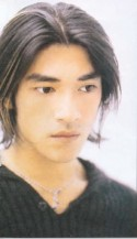 Takeshi Kaneshiro with medium hair in highlite