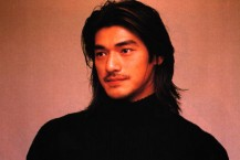 Takeshi Kaneshiro with long layered hairstyle